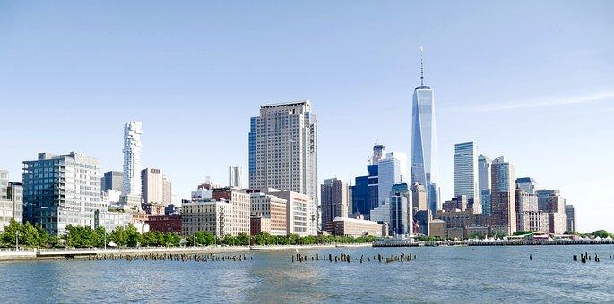 Lower Manhattan, Manhattan, Downtown, Skyline