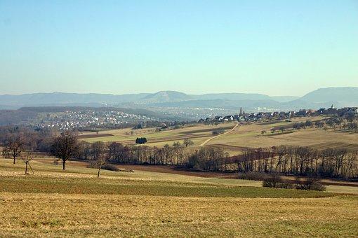 Landscape, Swabian Alb, Alb, Nature, Sky, Wide, Fields