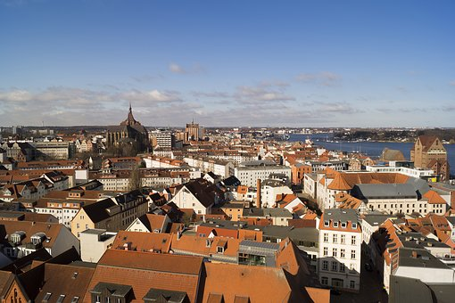 Rostock, Outlook, Architecture, Sky, Old Town
