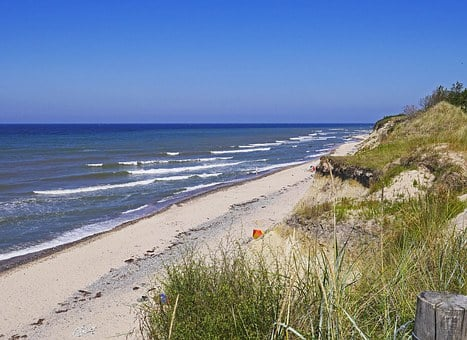 Baltic Sea Beach, Dunes, Rügen, Cliff, Sand