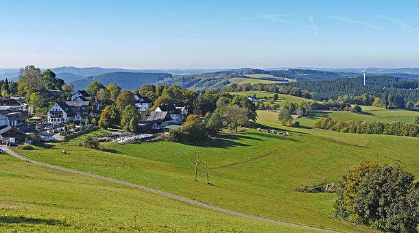 Germany, Sauerland, Mountain Country, Highlands