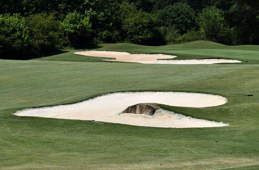 Sand Trap, Golf, Course, Greens, Sport, Trap, Grass