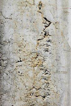 Wall, Concrete, Concrete Wall, Crack, Hole, Stone