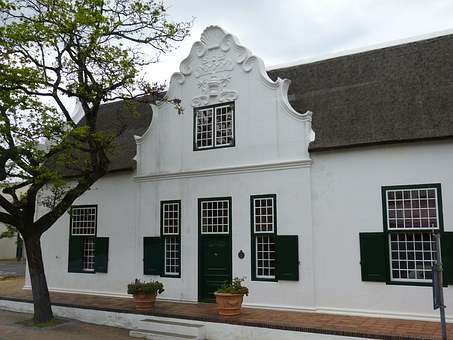 South Africa, Stellenbosch, Building, Cape Dutch