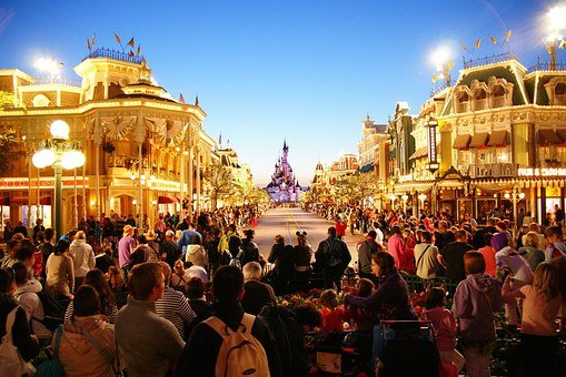 Euro, Disney, Disneyland, Paris, Theme, Park, France