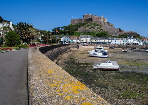 Gorey, Jersey, Harbour, Castle, Island, Fortress, Sea
