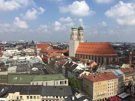 Munich, Panorama, Frauenkirche, Viewpoint