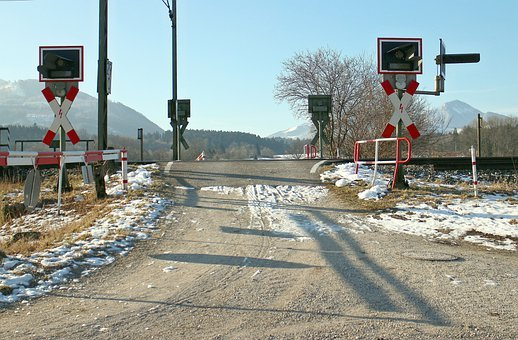 Train, Level Crossing, Rail Traffic, Andreaskreuz