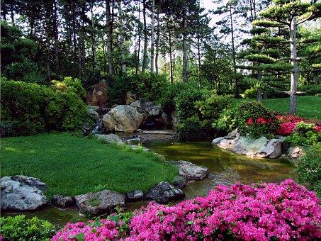Landscape, Japanese Garden, Ornamental Garden