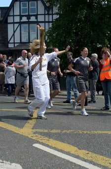 Torch, Fire, Flame, Runner, Olympic Games, London