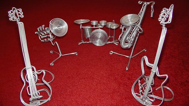 Music, Band, Instruments, Wire Instruments, Art