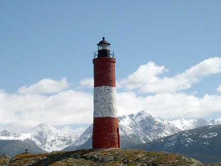 Lighthouse, End Of The World, Antarctic, Snow, Blue