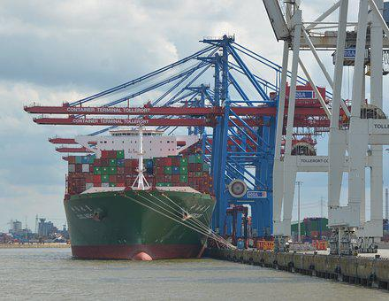 Container Ship, Frachtschiff, Freighter, Technology
