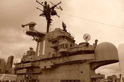 Warship, War, Gun, Aircraft Carrier, Ship, Threat