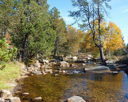 River, Mountain, Water, Nature, Water Courses, Rock