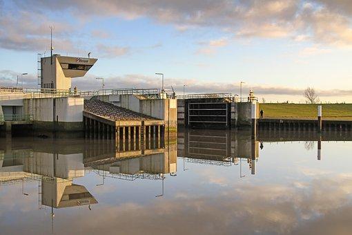 Blocking Factory, Lock, Port, North Sea, Husum