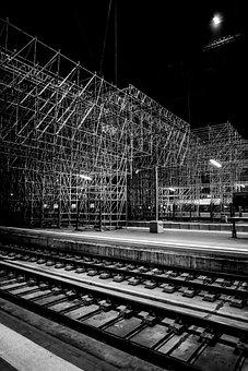 Bordeaux, Train, Rail, Railway, France, Monument
