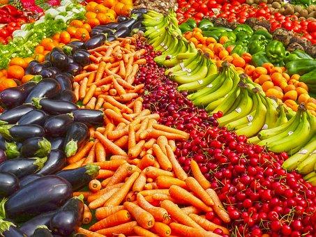 Greengrocers, Fruit, Banana, Bananas, Shop, Carrots