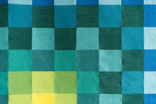 Tapestry, Square, Yellow, Green, Blue, Turquoise