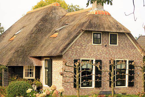 Reed Roof, East Frisia, Stone Built House, Harvested