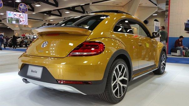 Beetle, Car, Showroom, Volkswagen, Classic, Vehicle