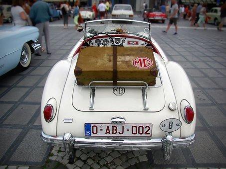 Oldtimer, Mg, Cabriolet, Classic, Sports Car, 1956