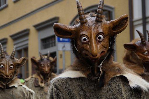 Tiermaske, Geiss, Goat, Billy Goat, Horns, Face