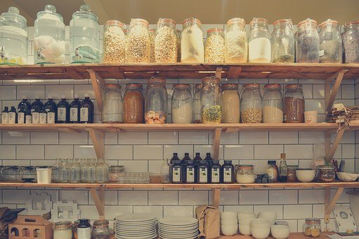 Shelf, Container, Rack, Food, Shelves, Store, People