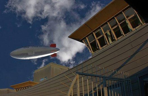 Zeppelin, Airship, Hot Air Ship, Fly, Sky, Aircraft