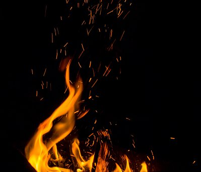 Fire, Spark, Flame, Koster, Burn, Campfire, Bonfire