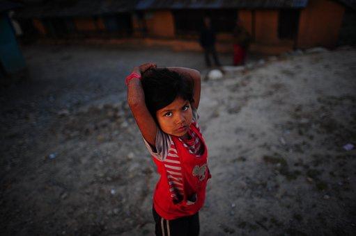 Nepal, Child, Village, Portrait, Nepalese, Children