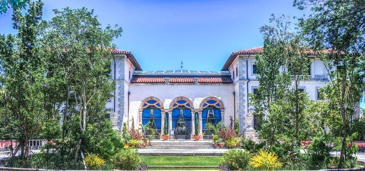 Vizcaya, Miami, Florida, Entrance, Historic