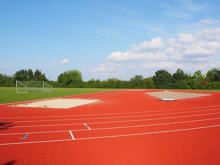 Sports Ground, Football Field, Long Jump, Pit, Sand