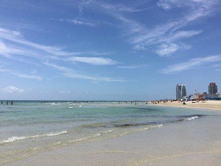 Beach, Miami, Ocean, Summer, Holidays