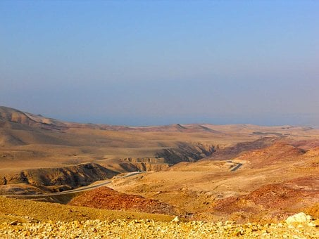 Jordan, Near Mount Nebo, Dessert, Yellow, Bible
