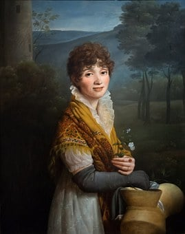 Young Woman, Woman, Painting, Oxford, Ashmolean Museum