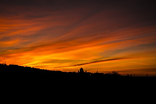 Basilica, Esztergom, Sky, Day S, Sunset, Clouds, Colors