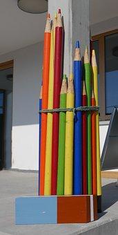 Back To School, Carpenter, Pencils, Eraser