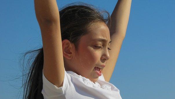 Girl, Playing, Child, Childhood, Fun, Cheerful