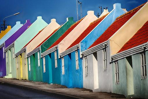 Curacao, Cottage, Colored