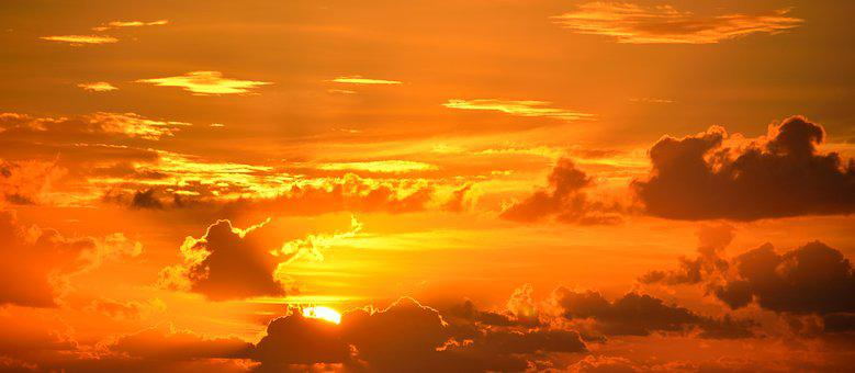 Vibrant, Color, Sunrise, Orange, Majestic, Sky, Bright