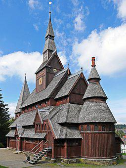 Stave Church, Goslar-hahnenklee, East Side, Resin