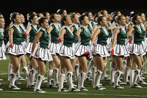 High School Drill Team, Girls, Sporting Event, Female