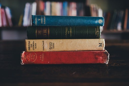 Books, Library, Through The Looking Glass, Jrr Tolkien