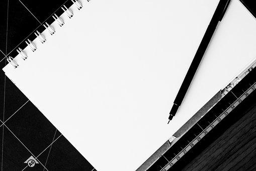 Notebook, Pen, Table, Blank, Desk, Paper, Note, White