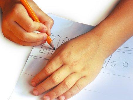 Kid, Hands, Picture, Pen, White, Children, Child
