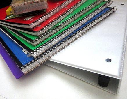 School Supplies, Spirals, Pencils, Education, School