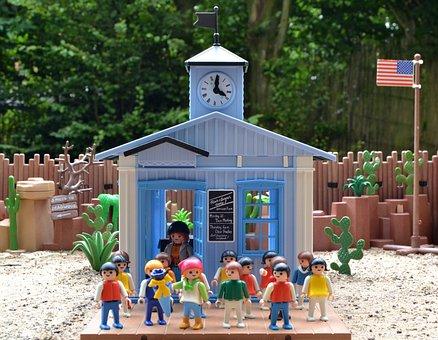 Playmobil, Western, School, Back To School, Training