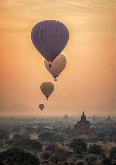 Adventure, Hot Air Ballon, Ancient, Archaeological