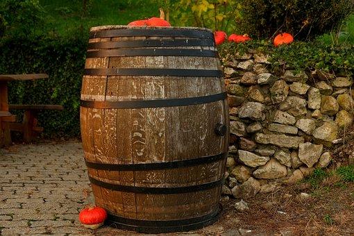 Wine Barrel, Wooden Barrels, Barrel, Wine, Keller